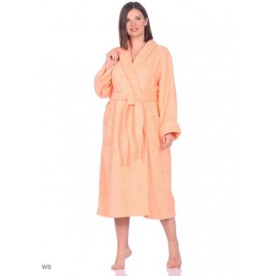 Халат женский персиковый