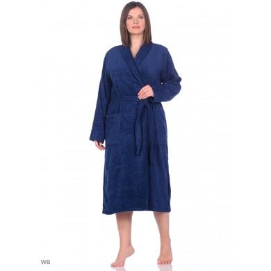 Халат женский темно-синий