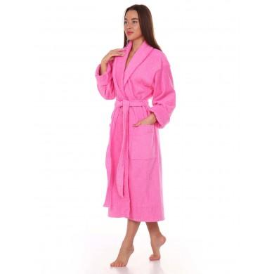 Халат женский розовый