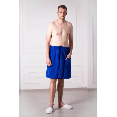 Набор для сауны мужской темно-синий